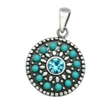 Mosaic - 925 Sterling Silver Pendants with CZ SD40926