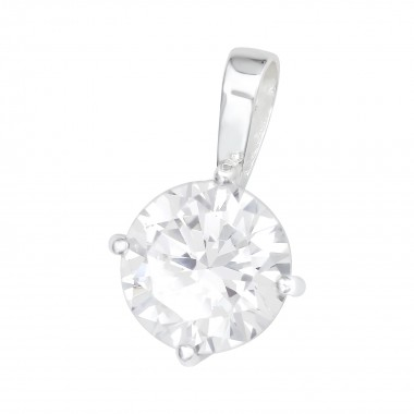 Round - 925 Sterling Silver Pendants with CZ SD41031