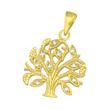 Tree Of Life - 925 Sterling Silver Pendants with CZ SD42104