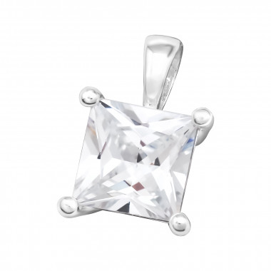Square - 925 Sterling Silver Pendants with CZ SD42180