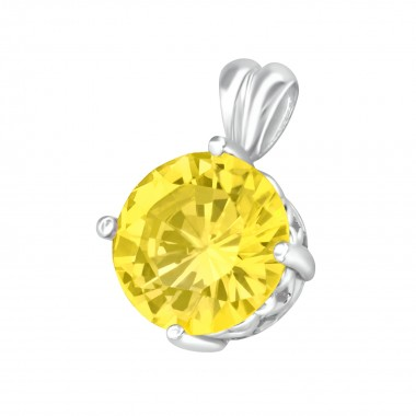 Round - 925 Sterling Silver Pendants with CZ SD5102