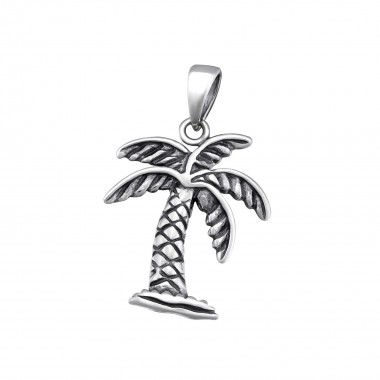 Palm Tree - 925 Sterling Si...