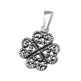 Antique - 925 Sterling Silver Simple Pendants SD38513