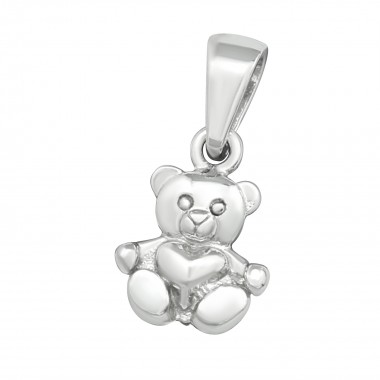 Bear - 925 Sterling Silver Simple Pendants SD39861