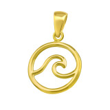 Wave - 925 Sterling Silver Simple Pendants SD42123