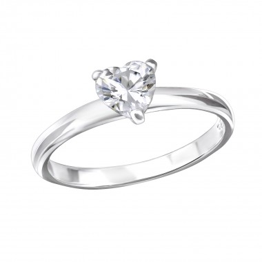 Heart - 925 Sterling Silver Rings with CZ SD138