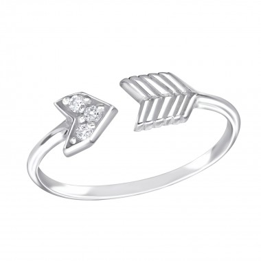 Arrow - 925 Sterling Silver Rings with CZ SD15064