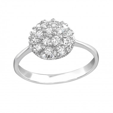 Circle - 925 Sterling Silver Rings with CZ SD15443