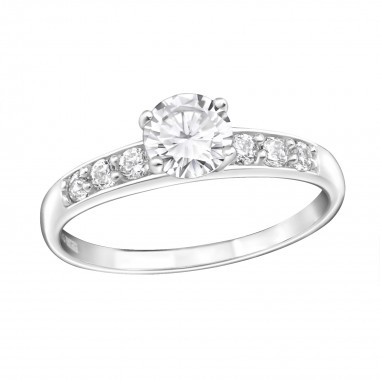 Sprinkled - 925 Sterling Silver Rings with CZ SD15446