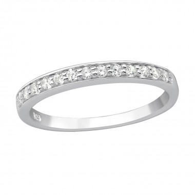 Sprinkled - 925 Sterling Silver Rings with CZ SD15450
