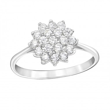 Flower - 925 Sterling Silver Rings with CZ SD15453