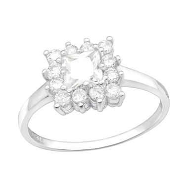 Rectangle - 925 Sterling Silver Rings with CZ SD15454