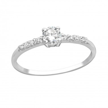 Sprinkled - 925 Sterling Silver Rings with CZ SD18771