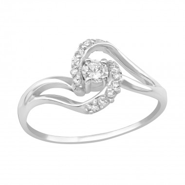 Twirl - 925 Sterling Silver Rings with CZ SD19424