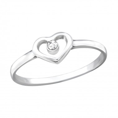 Heart - 925 Sterling Silver Rings with CZ SD19425