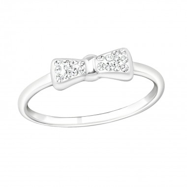 Tie bow - 925 Sterling Silver Rings with CZ SD19426