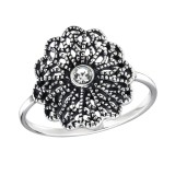 Flower - 925 Sterling Silver Rings with CZ SD30993