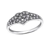 Celtic Heart - 925 Sterling Silver Rings with CZ SD31588