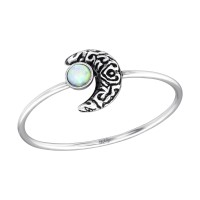 Moon - 925 Sterling Silver Rings with CZ SD35074