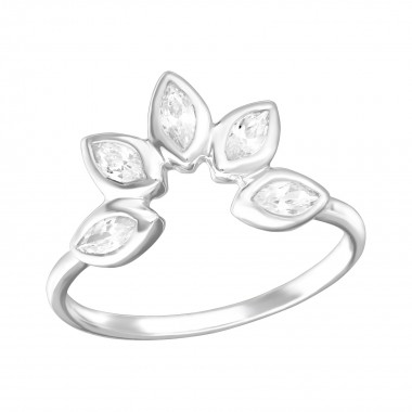 Flower - 925 Sterling Silver Rings with CZ SD36414