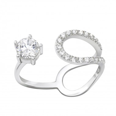 Open - 925 Sterling Silver Rings with CZ SD36532