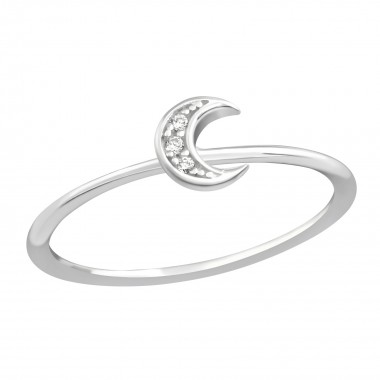 Moon - 925 Sterling Silver Rings with CZ SD38368