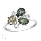 Geometric - 925 Sterling Silver Rings with CZ SD38446