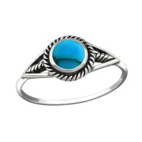 Round - 925 Sterling Silver Rings with CZ SD38483