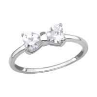 Bow - 925 Sterling Silver Rings with CZ SD38526