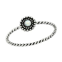 Flower - 925 Sterling Silver Rings with CZ SD38543