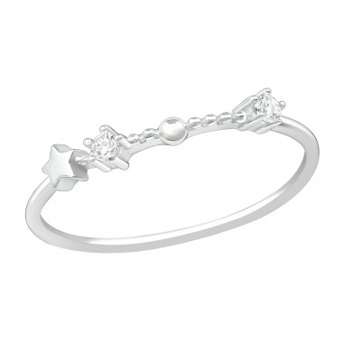 January-Aquarius - 925 Sterling Silver Rings with CZ SD38658