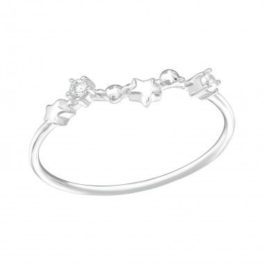 February-Pisces - 925 Sterling Silver Rings with CZ SD38659