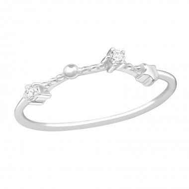 March-Aries - 925 Sterling Silver Rings with CZ SD38660
