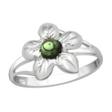 Flower - 925 Sterling Silver Rings with CZ SD38968