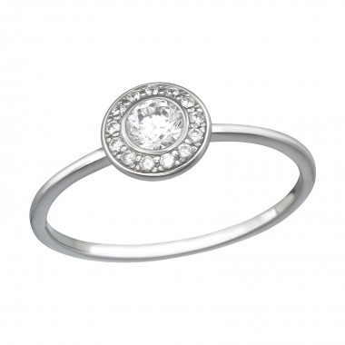Round - 925 Sterling Silver Rings with CZ SD39781