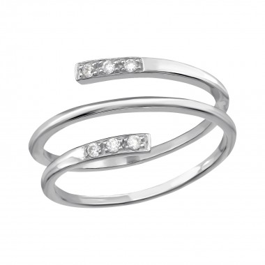 Stackable - 925 Sterling Silver Rings with CZ SD39782