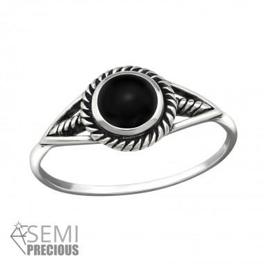Round - 925 Sterling Silver Rings with CZ SD40696