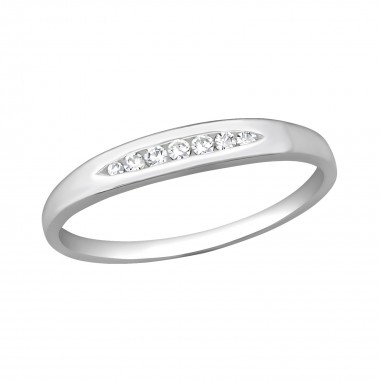 Band - 925 Sterling Silver Rings with CZ SD40697