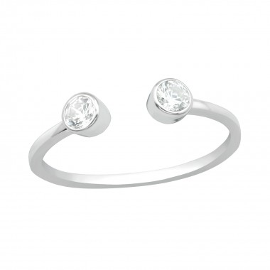 Open - 925 Sterling Silver Rings with CZ SD40698
