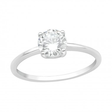 Solitaire - 925 Sterling Silver Rings with CZ SD40700