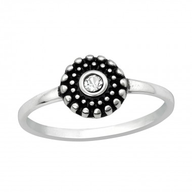 Round - 925 Sterling Silver Rings with CZ SD40748