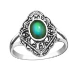 Antique - 925 Sterling Silver Rings with CZ SD41663