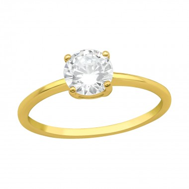 Solitaire - 925 Sterling Silver Rings with CZ SD41726