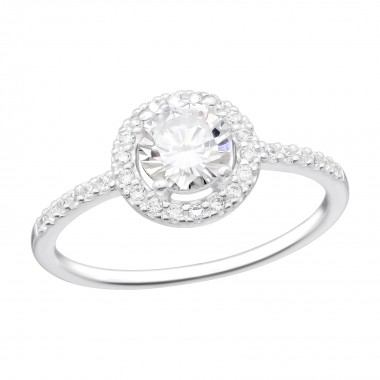 Solitaire - 925 Sterling Silver Rings with CZ SD41925