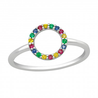 Round - 925 Sterling Silver Rings with CZ SD42458