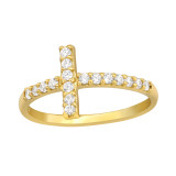 Cross - 925 Sterling Silver Rings with CZ SD43020
