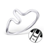 Wave - 925 Sterling Silver Midi Rings SD19928