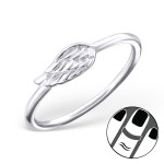 Wing - 925 Sterling Silver Midi Rings SD19935