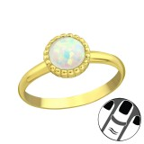 Round Synthetic Opal - 925 Sterling Silver Midi Rings SD23597