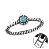 Round - 925 Sterling Silver Midi Rings SD23804